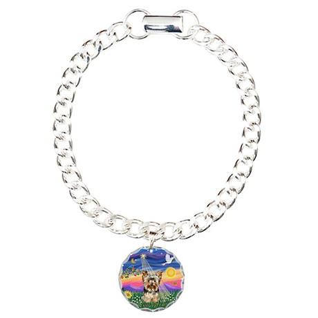 Twilight - Yorkie #17 Charm Bracelet, One Charm