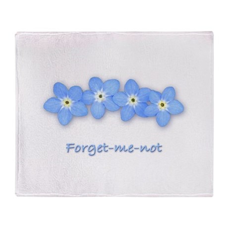 Forget-Me-Not Throw Blanket