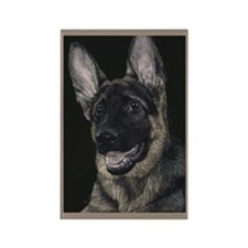 German Shepherd Pup 2 Rectangle Magnet