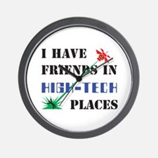 Friends in High Tech Places Wall Clock