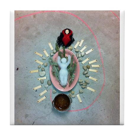Imbolc Ice Goddess Tile Coaster 4.25 x 4.25 x 1/6