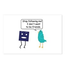 Stop Following Me (parody) Postcards (Package of 8