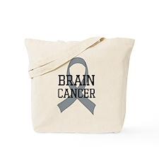 Brain Cancer Gray Ribbon Tote Bag