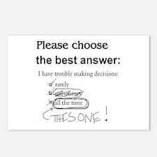 Indecisive - Trouble Making Decisions Postcards (P