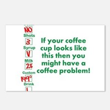 Coffee Problem Funny Coffee S Postcards (Package o