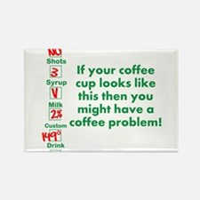 Coffee Problem Funny Coffee S Rectangle Magnet