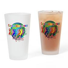 World Cancer Awareness Matter Drinking Glass