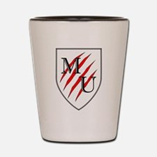 Maneater University Shield Shot Glass