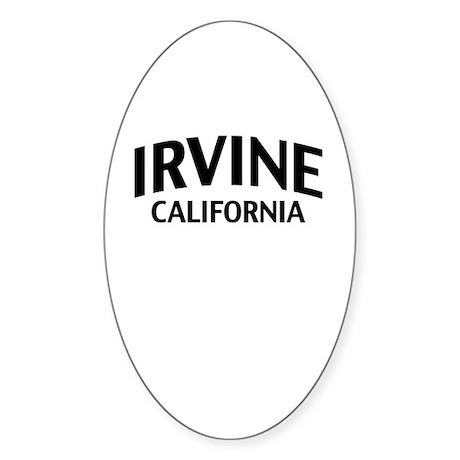 Irvine California Sticker (Oval)