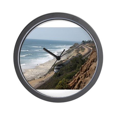 Pacific Coast Surf Liner Wall Clock
