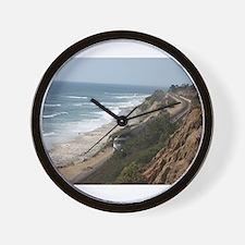 Pacific Coast Surf Liner Wall Clock