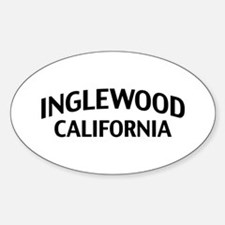 Inglewood California Sticker (Oval)