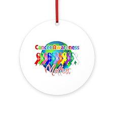 World Cancer Awareness Ornament (Round)