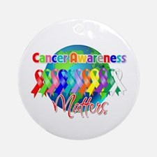 World Cancer Awareness Ornament (Round)