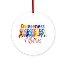 Ribbon Awareness Matters Ornament (Round)