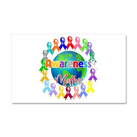 World Awareness Matters Car Magnet 20 x 12