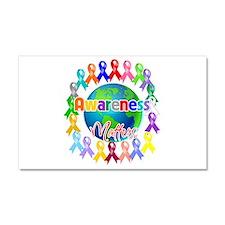 World Awareness Matters Car Magnet 20 x 12