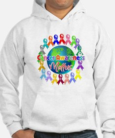 Cancer Awareness World Jumper Hoody