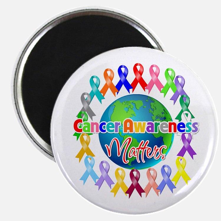 "Cancer Awareness World 2.25"" Magnet (10 pack)"