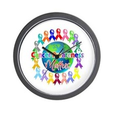 Cancer Awareness World Wall Clock