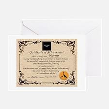 60+ Birthday Certificate Greeting Card