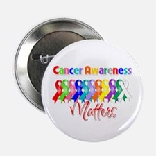 """Cancer Ribbon Matters 2.25"""" Button"""