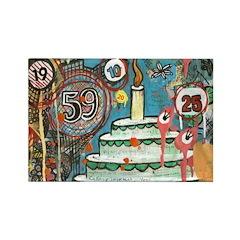 I love CakeRectangle Magnet (10 pack)