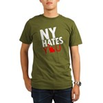 New York Hates You Organic Men's T-Shirt (dark)