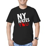 New York Hates You Men's Fitted T-Shirt (dark)
