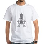 Tesla's Earthquake Machine White T-Shirt