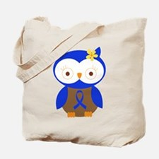 Blue Ribbon Owl Awareness Tote Bag