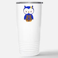 Blue Ribbon Owl Awareness Travel Mug
