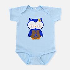 Blue Ribbon Owl Awareness Infant Bodysuit