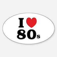 I Heart 80s Sticker (Oval)