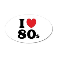 I Heart 80s 22x14 Oval Wall Peel