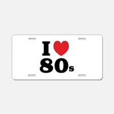 I Heart 80s Aluminum License Plate