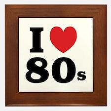 I Heart 80s Framed Tile