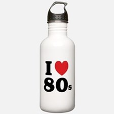 I Heart 80s Sports Water Bottle