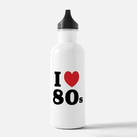 I Heart 80s Water Bottle