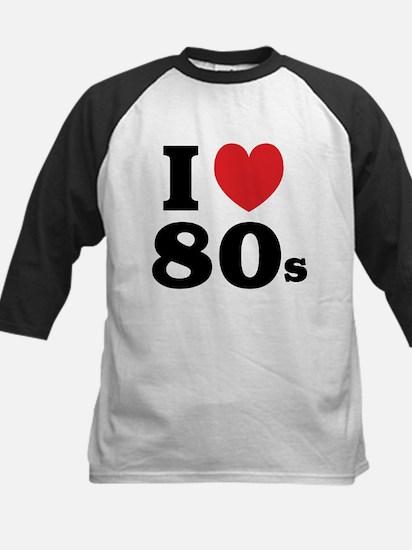 I Heart 80s Kids Baseball Jersey