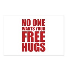 No One Wants Your Free Hugs Postcards (Package of