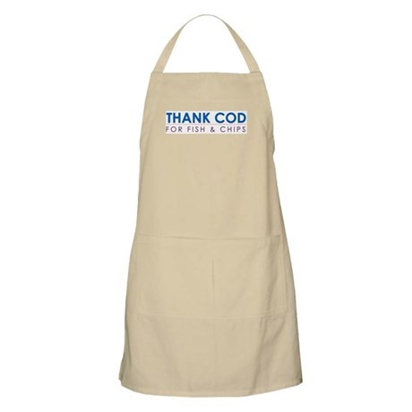"""Thank COD for Fish & Chips"" BBQ Apron"