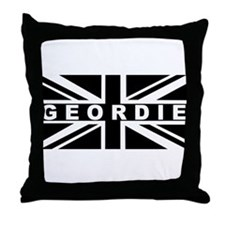Geordie - Black & White Union Jack Throw Pillow