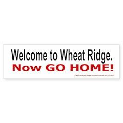 Wheat Ridge Welcome Bumper Bumper Sticker