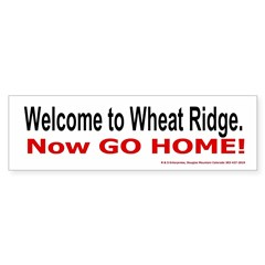 Wheat Ridge Welcome Bumper Bumper Sticker