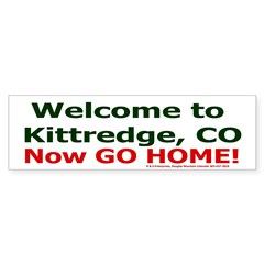 Kittredge welcome sticker