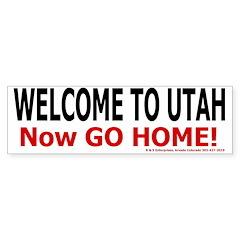 Utah Welcome Bumper Bumper Sticker