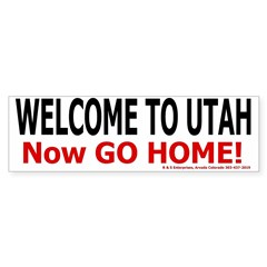 Utah Welcome Bumper Bumper Sticker