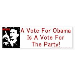 Obama Party Bumperstickers Bumper Bumper Sticker