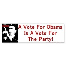 Obama Party Bumperstickers Bumper Bumper Sticker